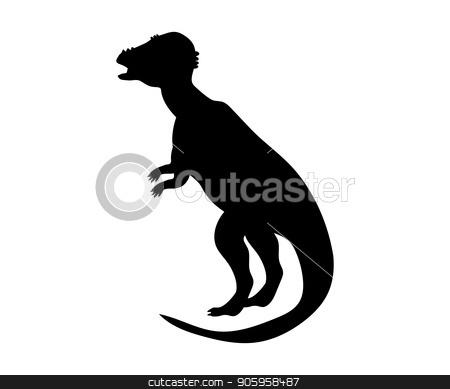 Pachycephalosaurus silhouette dinosaur jurassic prehistoric anim stock vector clipart, Pachycephalosaurus silhouette dinosaur jurassic prehistoric animal. Vector illustration by kozyrevaelena