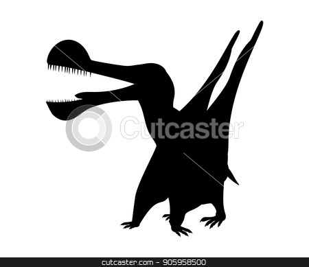 Tropeognathus silhouette dinosaur jurassic prehistoric animal stock vector clipart, Tropeognathus silhouette dinosaur jurassic prehistoric animal. Vector illustration by kozyrevaelena
