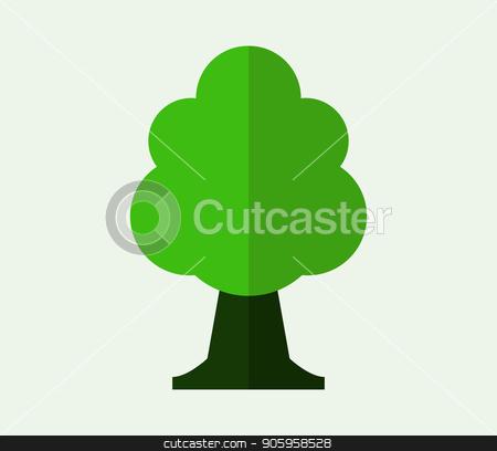 tree icon stock vector clipart, tree icon by Mark1987
