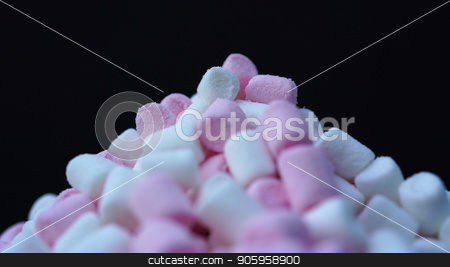 Marshmallow pink and white candy background stock photo, Marshmallow pink and white candy background. by petr zaika