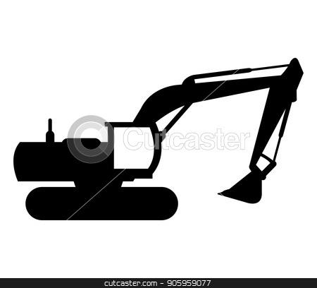 excavator icon stock vector clipart, excavator icon by Mark1987