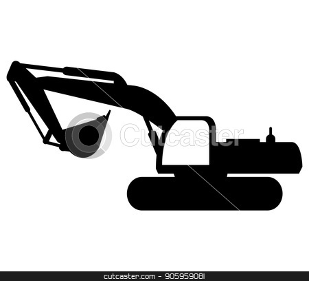 excavator icon stock vector clipart, excavator icon by Mark1987