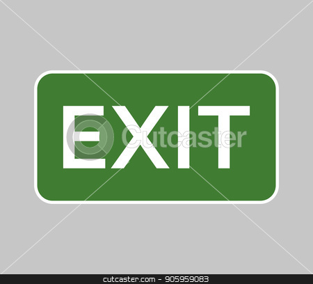 signal exit stock vector clipart, signal exit by Mark1987