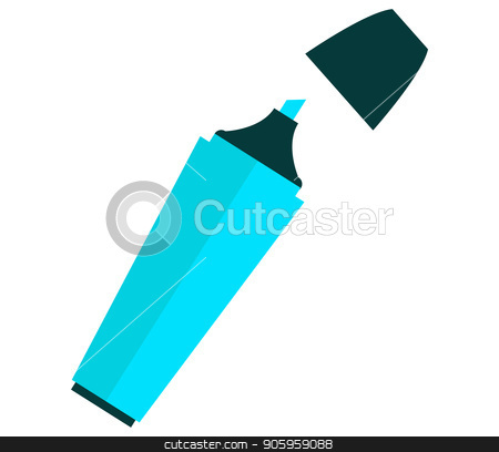 highlighter icon stock vector clipart, highlighter icon by Mark1987