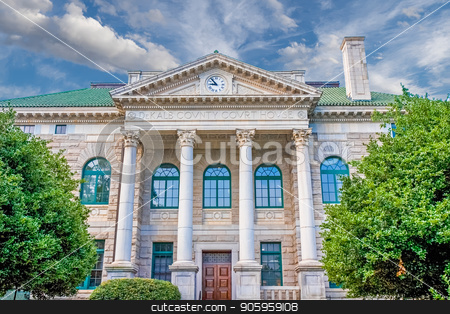 Early Morning Courthouse stock photo, An old granite courthouse in the early morning light by Darryl Brooks