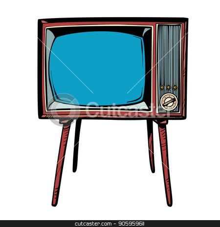 retro TV. Television news and programs stock vector clipart, retro TV. Television news and programs. Comic cartoon pop art retro vector drawing by rogistok