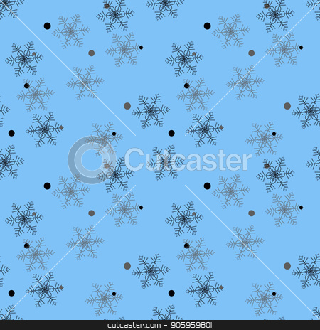 Snowflakes seamless pattern. Snow falls background. Symbol winter, Merry Christmas holiday, Happy New Year celebration Vector illustration stock vector clipart, Snowflakes seamless pattern. Snow falls background. Symbol winter, Merry Christmas holiday, Happy New Year celebration Vector illustration eps10 by elnurbabayev