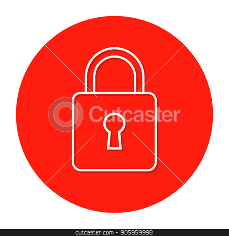 The sign of the padlock stock vector clipart, The sign of the padlock. Vector illustration. by Evgeniy Dzyuba