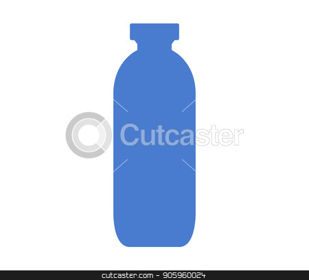 water bottle icon stock vector clipart, water bottle icon by Mark1987