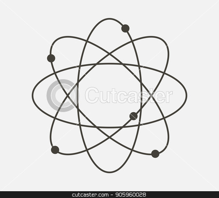 atom icon stock vector clipart, atom icon by Mark1987