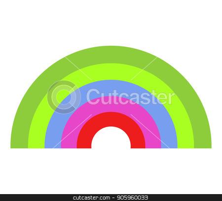 rainbow icon stock vector clipart, rainbow icon by Mark1987