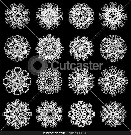 Ornamental Line Pattern. Round Texture. Geometric Ornament stock vector clipart, Ornamental Line Pattern. Round Texture. Oriental Geometric Ornament by valeo5