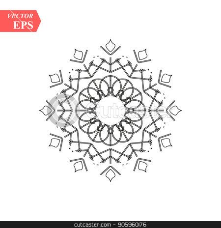 Snowflake icon. Christmas and winter theme. Simple flat black illustration on white background. stock vector clipart, Snowflake icon. Christmas and winter theme. Simple flat black illustration on white background. eps10 by elnurbabayev