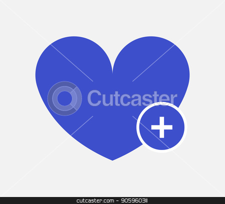 add heart icon stock vector clipart, add heart icon by Mark1987