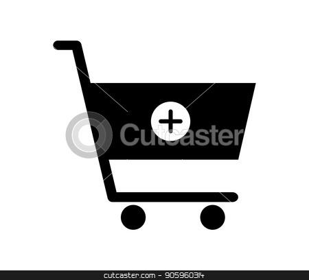shopping cart icon stock vector clipart, shopping cart icon by Mark1987