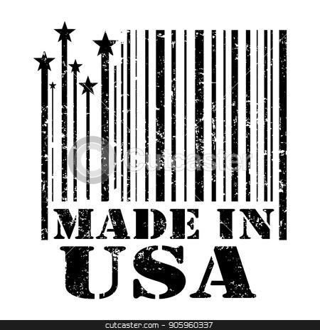 stamp Made in the USA stock vector clipart, Original stamp sign Made in the USA. Vector illustration. by Evgeniy Dzyuba