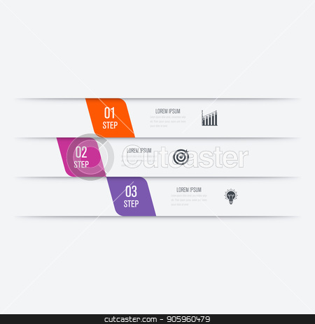 Vector illustration infographics 3 options stock vector clipart, Vector illustration infographics 3 options. Data and information visualization. Dynamic infographics stylish geometric. element for design business invitations, gift cards, flyers and brochures by Amelisk