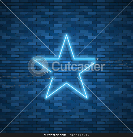 Bulb glowing. Neon ring lamp sign stock vector clipart, Bulb glowing. Neon ring lamp sign isolated on transparent background. Blue electric light star. Vector round bulb banner for advertising design by Amelisk