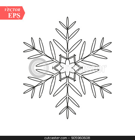 snowflake icon, vector snowflake sign, isolated snowflake symbol stock vector clipart, snowflake icon, vector snowflake sign, isolated snowflake symbol eps10 by elnurbabayev