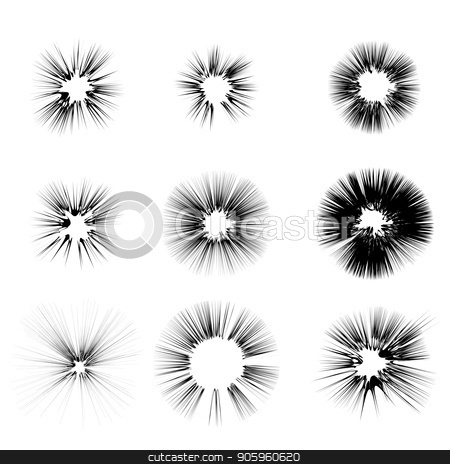 Explode Flash, Cartoon Explosion, Star Burst stock vector clipart, Explode Flash, Cartoon Explosion, Star Burst Isolated on White Background by valeo5