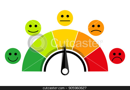 scale of customer satisfaction stock vector clipart, Rating scale of customer satisfaction. The scale of emotions with smiles. by Evgeniy Dzyuba
