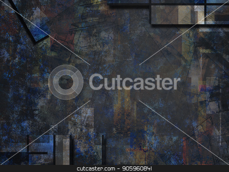 Dark Abstract stock photo, Dark colors abstract geometric background by Bruce Rolff
