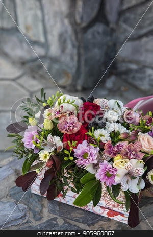 bouquet of different flowers stock photo, Beauty bouquet of different flowers by olinchuk