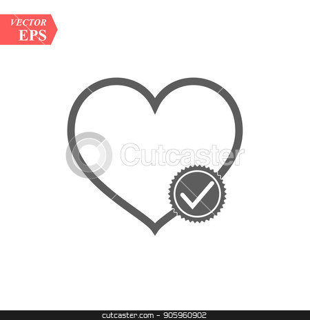 Modern heart line icon. Premium pictogram isolated on a white background. Vector illustration. Stroke high quality symbol. Heart icon in modern line style. stock vector clipart, Modern heart line icon. Premium pictogram isolated on a white background. Vector illustration. Stroke high quality symbol. Heart icon in modern line style.eps10 by elnurbabayev