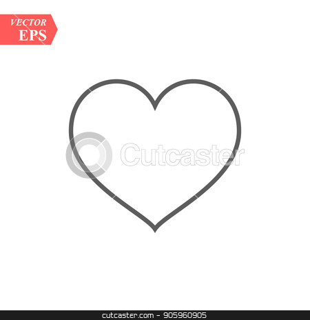 Modern heart line icon. Premium pictogram isolated on a white background. Vector illustration. Stroke high quality symbol. Heart icon in modern line style. stock vector clipart, Modern heart line icon. Premium pictogram isolated on a white background. Vector illustration. Stroke high quality symbol. Heart icon in modern line style. eps10 by elnurbabayev