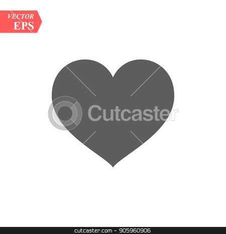 Heart vector icon. Love symbol. Valentine s Day sign. Love icon isolated on white background. Black heart emblem in flat style for graphic and web design, logo. stock vector clipart, Heart vector icon. Love symbol. Valentine s Day sign. Love icon isolated on white background. Black heart emblem in flat style for graphic and web design, logo. eps10 by elnurbabayev