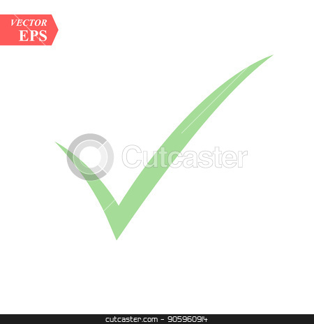Green tick Mark for correct approved for your websites school and projects vector icon stock vector clipart, Green tick Mark for correct approved for your websites school and projects vector icon eps10 by elnurbabayev