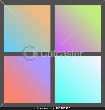 Set of Gradient futuristic square, vector design stock vector clipart, Set of Gradient futuristic square, vector illustration by Iryna Chaus