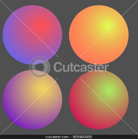 Set of Gradient futuristic circles, vector design stock vector clipart, Set of Gradient futuristic circles, vector design by Iryna Chaus