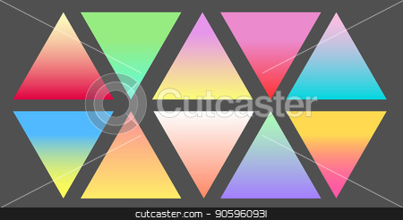 Set of Gradient futuristic triangles, vector set stock vector clipart, Set of Gradient futuristic triangles, vector design by Iryna Chaus