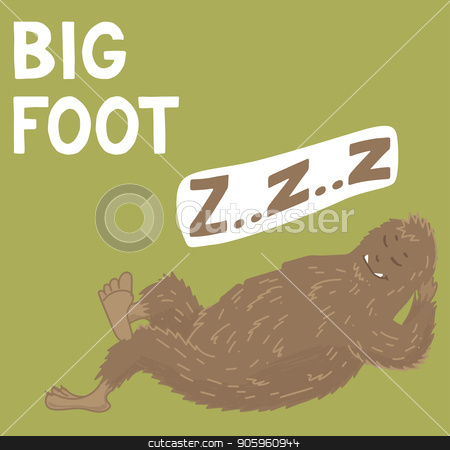 Bigfoot creature, cute big monster, vector design stock vector clipart, Bigfoot creature, cute big monster, vector illustration by Iryna Chaus