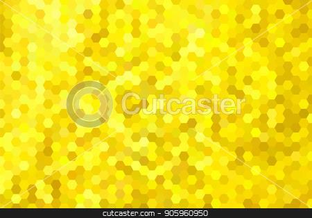 Golden yellow hexagon background stock vector clipart, Golden yellow hexagon background. Vector illustration for Your design. by Evgeniy Dzyuba