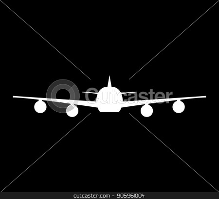 airplane icon stock vector clipart, airplane icon by Mark1987