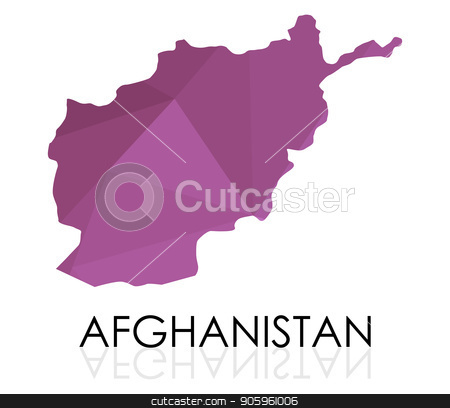 map of Afghanistan stock vector clipart, map of Afghanistan by Mark1987