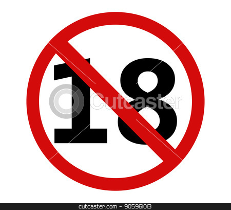 icon forbidden to 18 years stock vector clipart, icon forbidden to 18 years by Mark1987