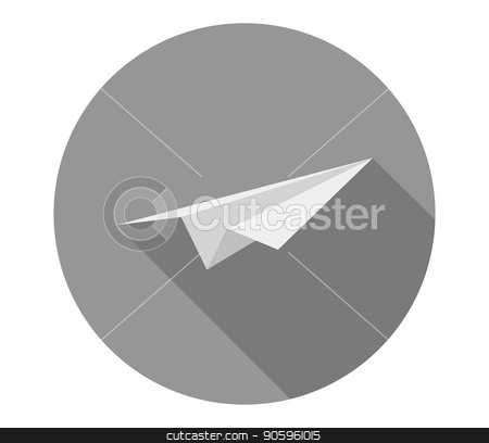 paper plane icon stock vector clipart, paper plane icon by Mark1987