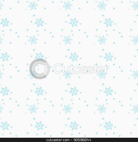 Snowflake simple seamless pattern. Blue snow on white background. Abstract wallpaper, wrapping decoration. Symbol of winter, Merry Christmas holiday, Happy New Year celebration Vector illustration stock vector clipart, Snowflake simple seamless pattern. Blue snow on white background. Abstract wallpaper, wrapping decoration. Symbol of winter, Merry Christmas holiday, Happy New Year celebration Vector illustration by elnurbabayev
