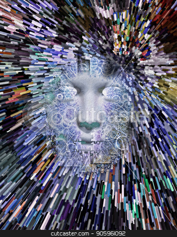 Mythical Face stock photo, Mythical Face Abstract by Bruce Rolff
