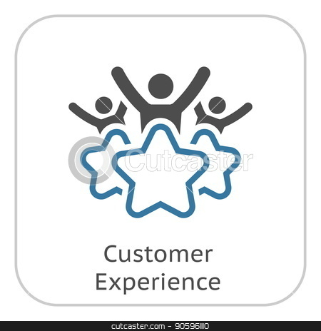 Customer Experience Line Icon. stock vector clipart, Customer Experience Line Icon. Client Satisfaction symbol. Customer Relationship Management. Isolated UI element. by Vadym Nechyporenko