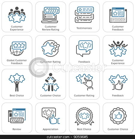 Simple Set of Testimonials Related Vector Icons stock vector clipart, Simple Set of Testimonials Related Vector Line Icons. Contains such Icons as Best Choice, Customer Choice, Appreciation, Feedback, Review, Rating symbols by Vadym Nechyporenko