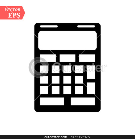 Calculator icon vector. Savings, finances sign isolated on white.