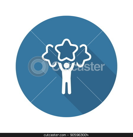 Best Choice Line Icon. stock vector clipart, Best Choice Line Icon. Client Satisfaction symbol. Customer Relationship Management. Isolated UI element. by Vadym Nechyporenko