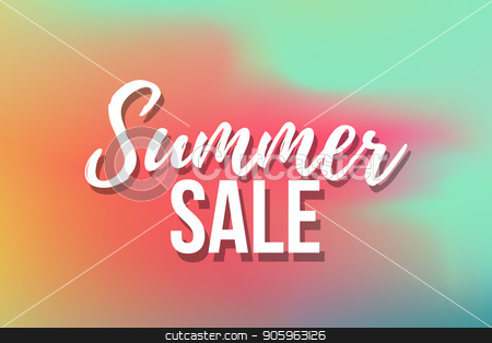 Hot Summer Sale banner. Trendy texture. Season vocation, weekend, holiday logo. Summer Time Wallpaper. Happy shiny Day. Modern vector Lettering. Fashionable styling. stock vector clipart, Hot Summer Sale banner. Trendy texture. Season vocation, weekend, holiday logo. Summer Time Wallpaper. Happy shiny Day. Modern vector Lettering. by MarySan