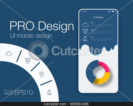 Date application UI design concept stock vector stock vector clipart, Date application UI design concept. Stock vector by Amelisk