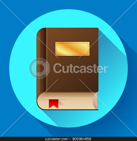 flat book icon vector illustration. Flat book icon with bookmark stock vector clipart, flat book icon vector illustration. Flat book icon with bookmark. by MarySan