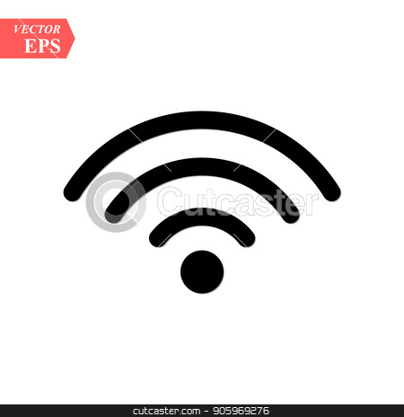 Wireless and wifi icon or sign for remote internet access. Podcast vector symbol. stock vector clipart, Wireless and wifi icon or sign for remote internet access. Podcast vector symbol. eps10 by elnurbabayev